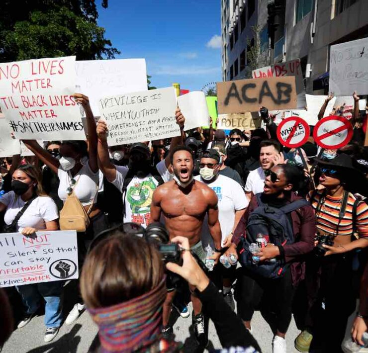 Protests Break Out Against Police Brutality In Miami After Death Of George Floyd