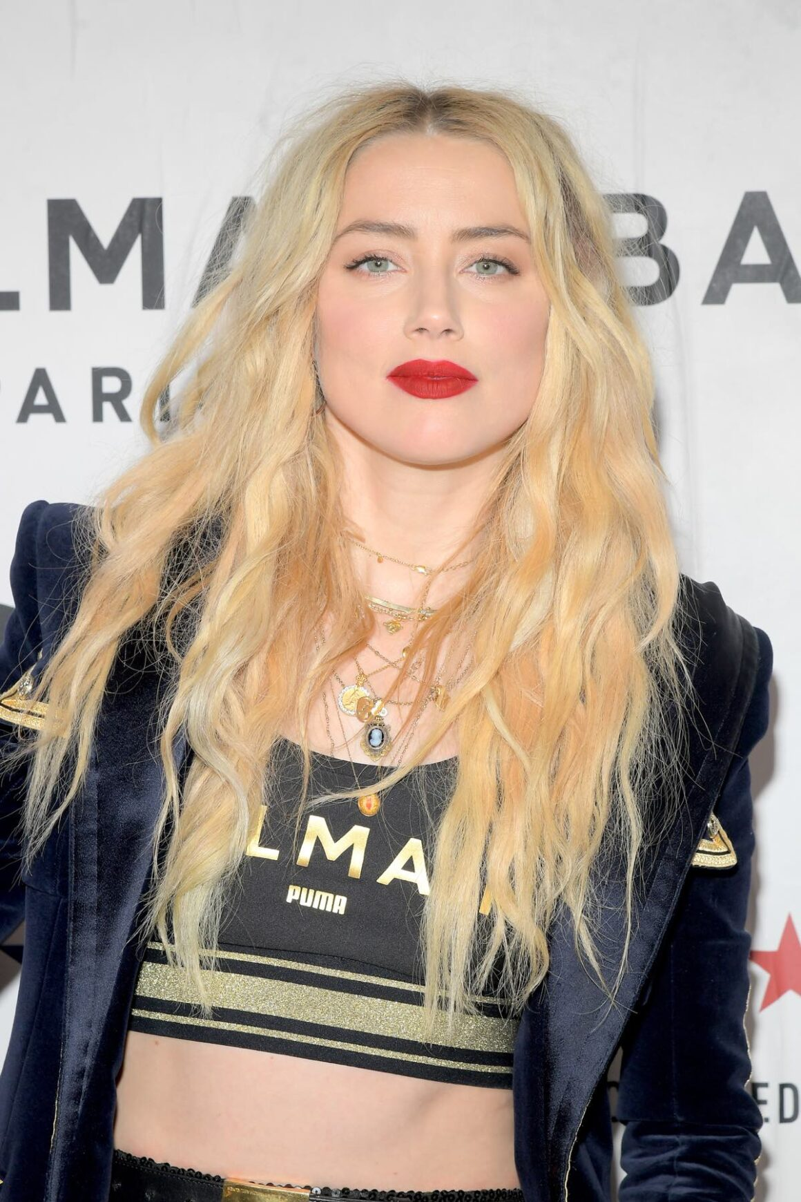 Amber Heard attends 'PUMA x Balmain- created with Cara Delevingne' LA Launch Event