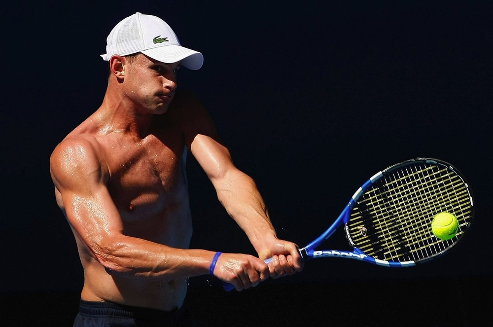 Andy Roddick practicing at the Australian Open 2009 - Previews