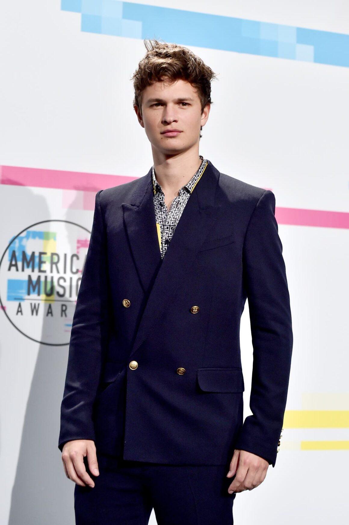 Ansel Elgort attends 2017 American Music Awards - Press Room