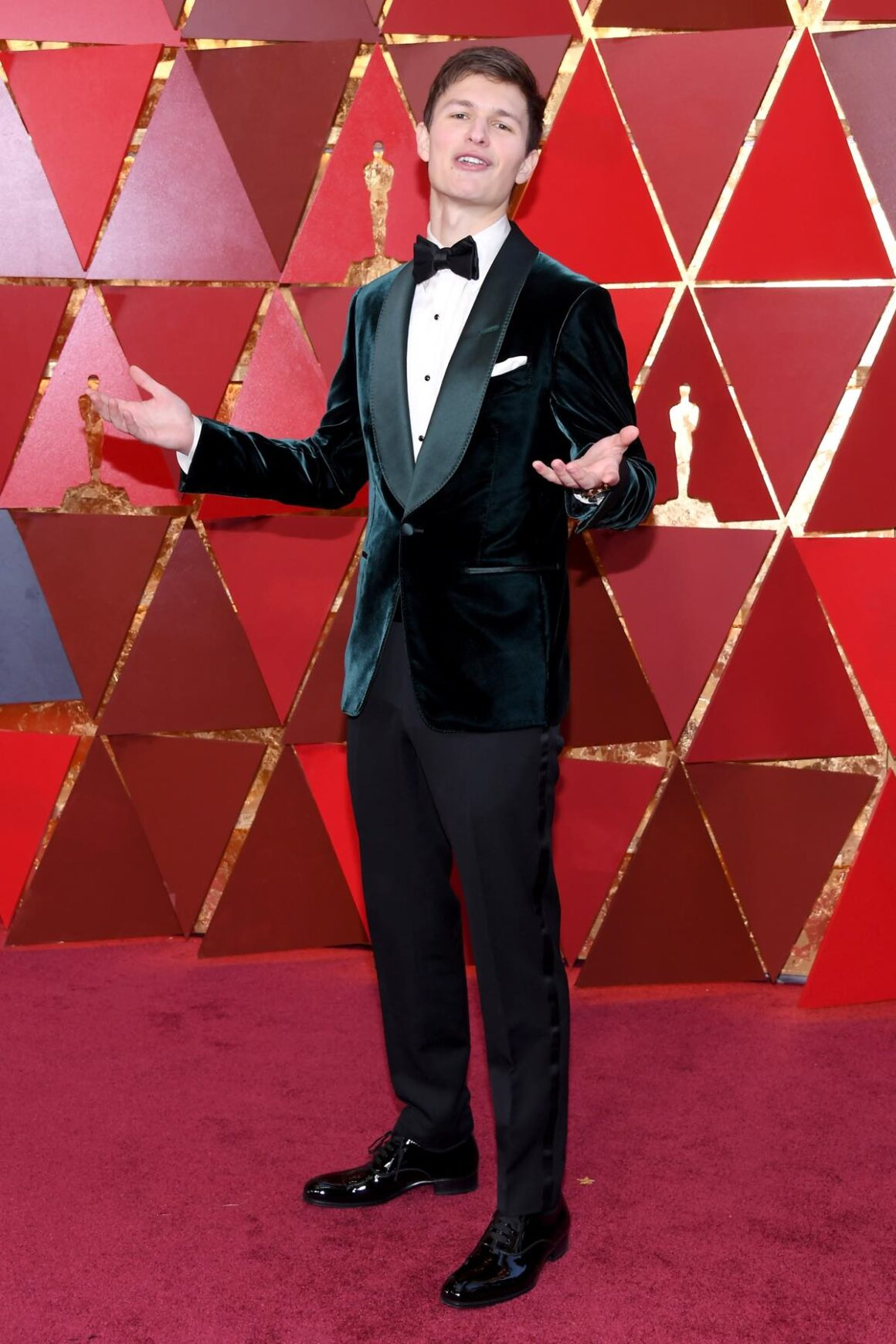Ansel Elgort attends 90th Annual Academy Awards - Arrivals