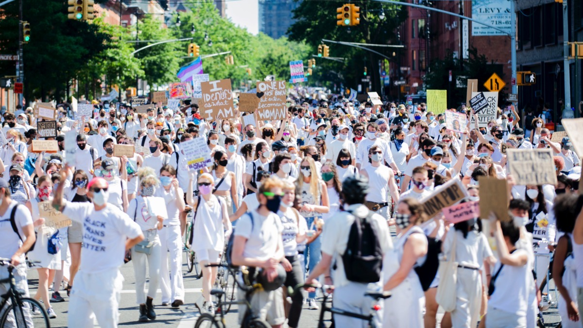 Protesters Gather In Brooklyn For Black Trans Lives Matter Rally