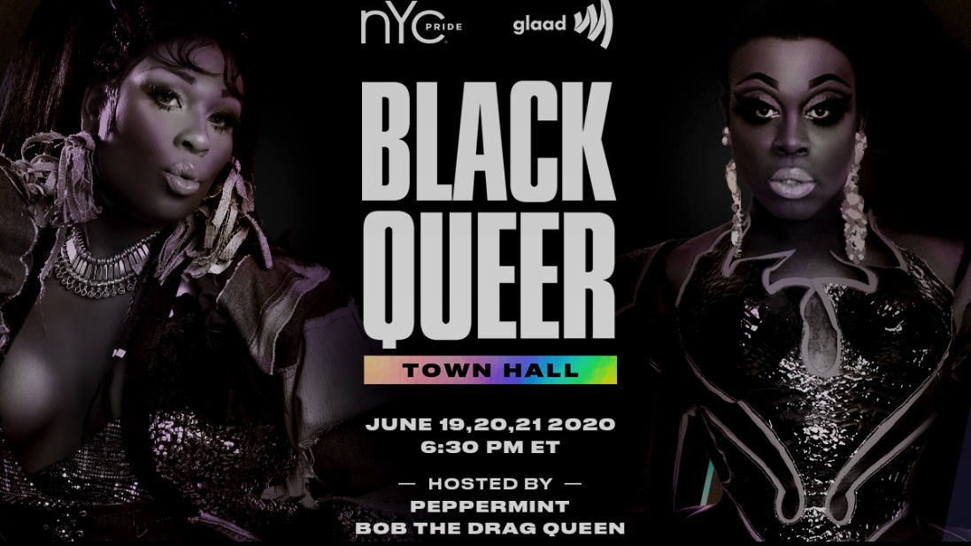 Bob the Drag Queen and Peppermint Black Queer Town Hall