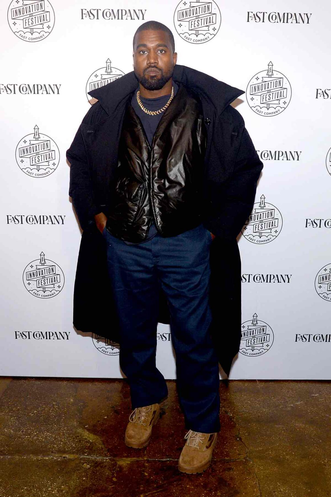 Kanye West attends Fast Company Innovation Festival - Day 3 Arrivals