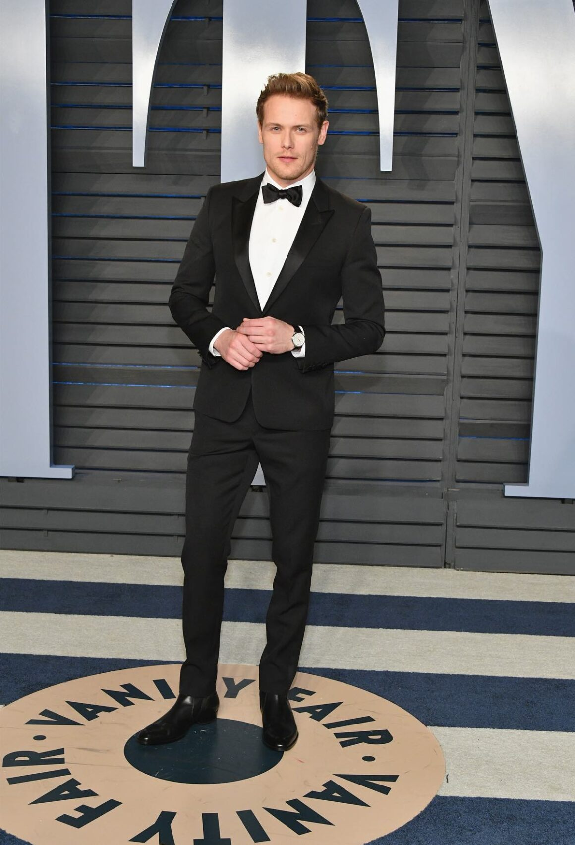 Sam Heughan attends the 2018 Vanity Fair Oscar Party Hosted By Radhika Jones - Arrivals