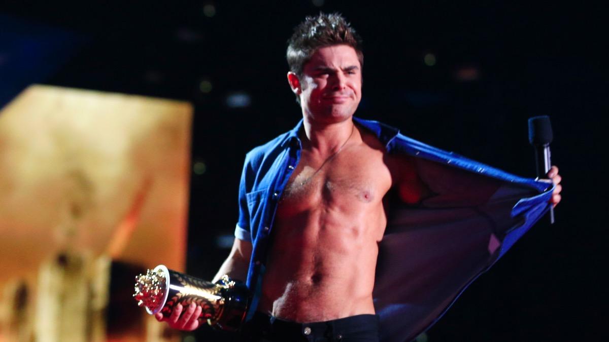 Zac Efron at the 2014 MTV Movie Awards - Show