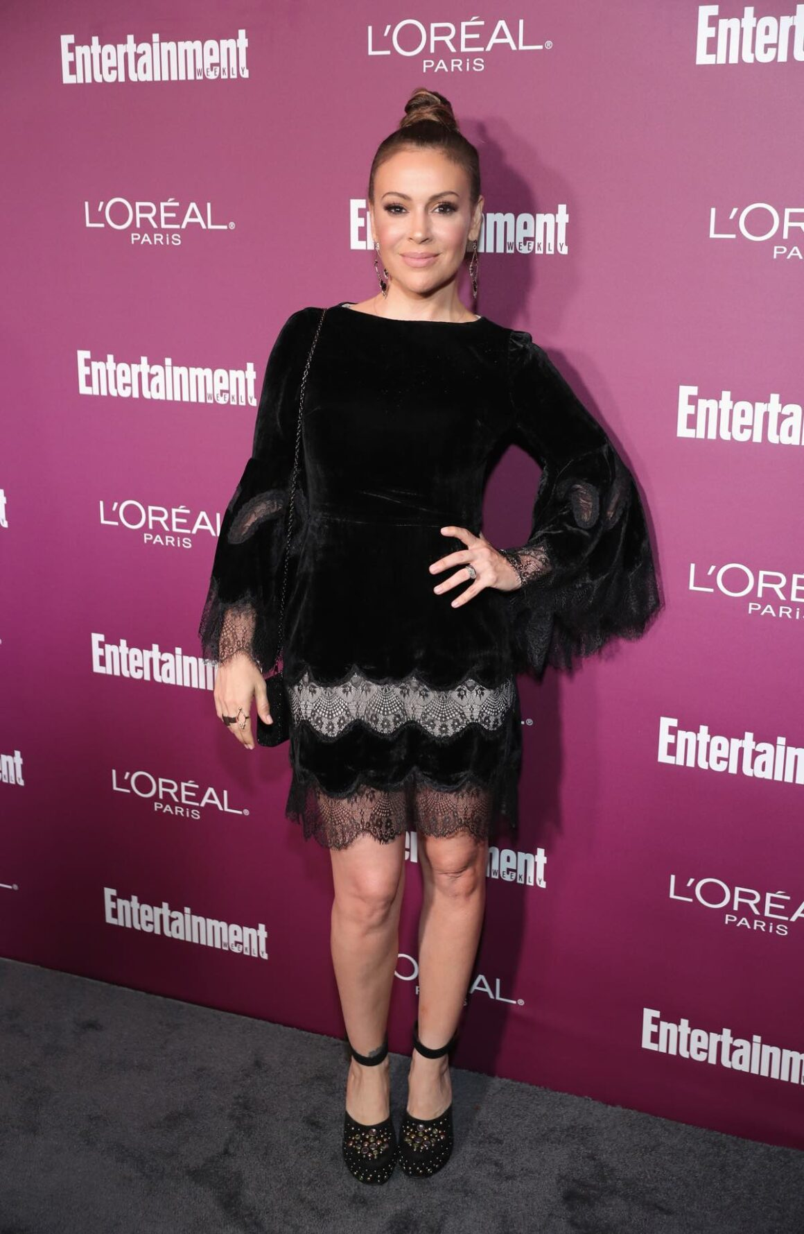 Alyssa Milano 2017 Entertainment Weekly Pre-Emmy Party - Red Carpet