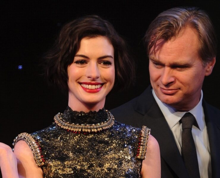 Anne Hathaway and Christopher Nolan Film Interstellar Shanghai Premiere