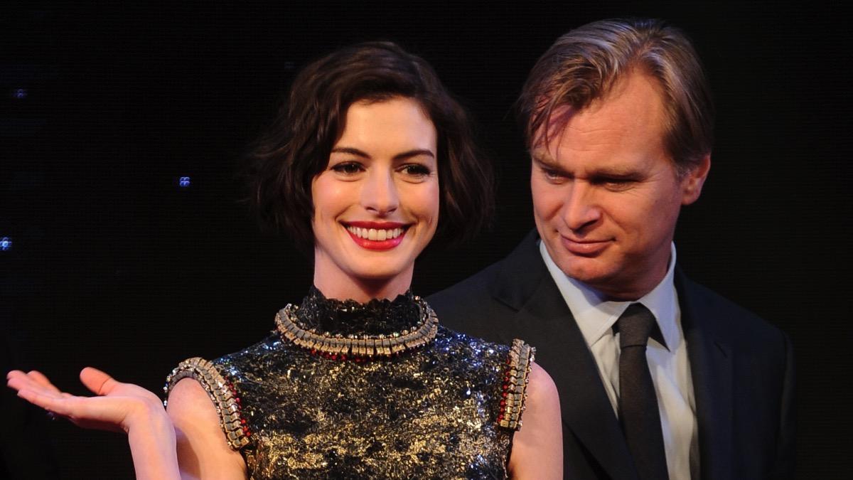 Anne Hathaway and Christopher Nolan Film Interstellar Shanghai Premiere
