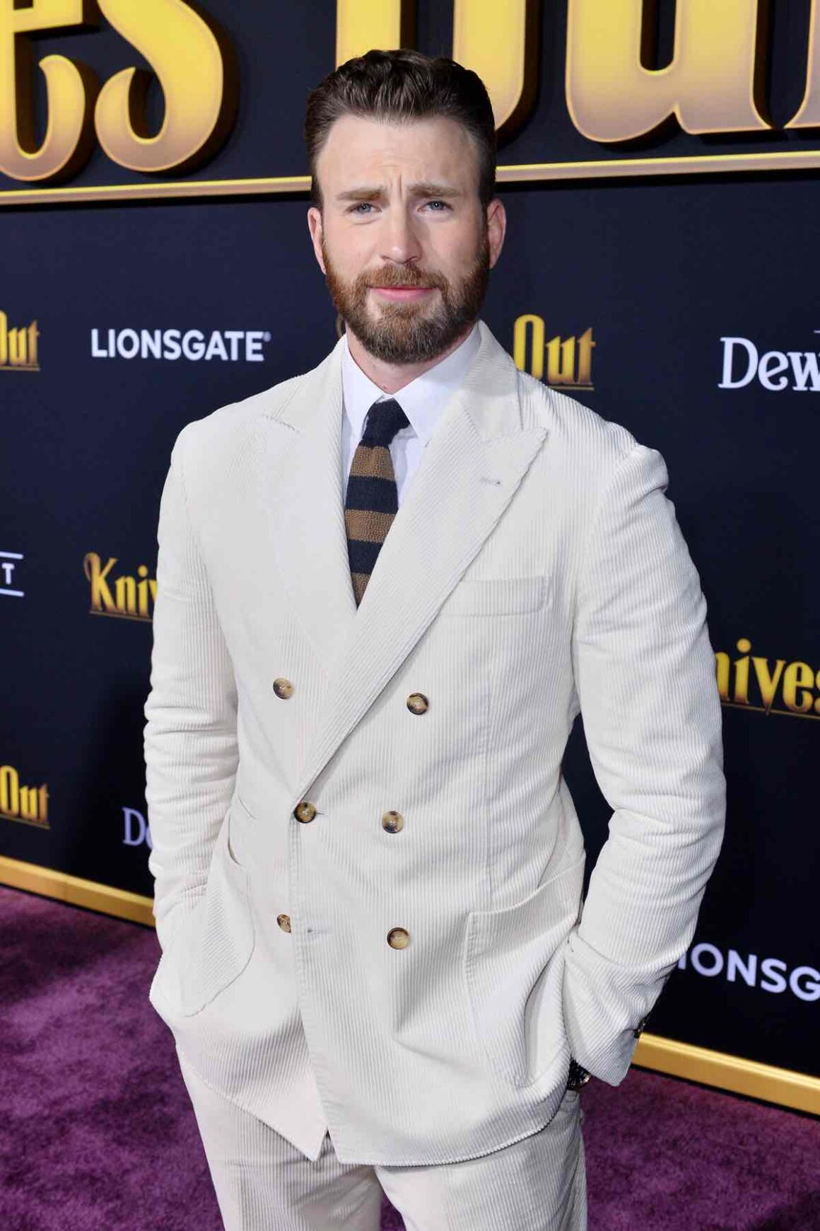 "Chris Evans Premiere Of Lionsgate's ""Knives Out"" - Red Carpet"