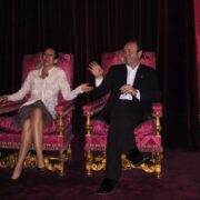 Ghislane Maxwell and Kevin Spacey Posed on British Throne