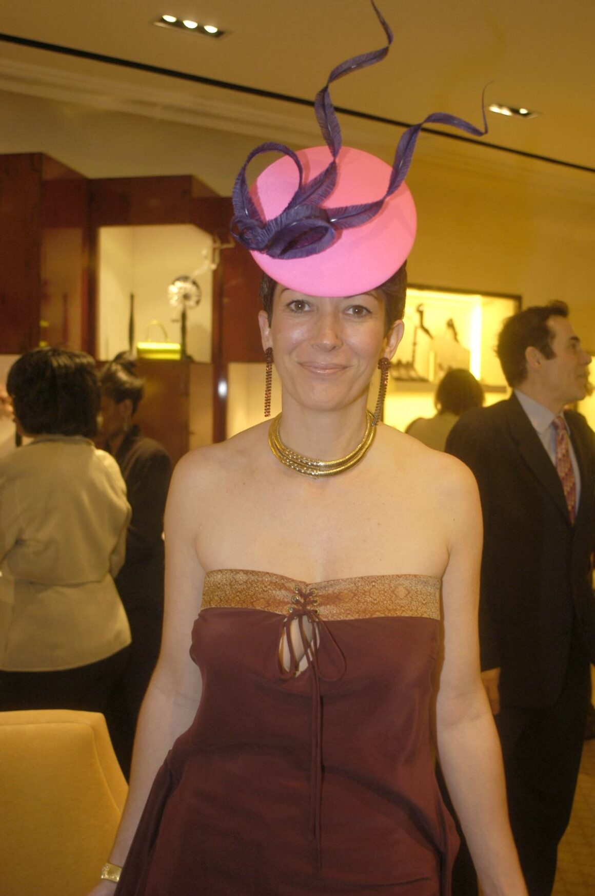 Ghislaine Maxwell Cocktail Party for Philip Treacy at Bergdorf Goodman