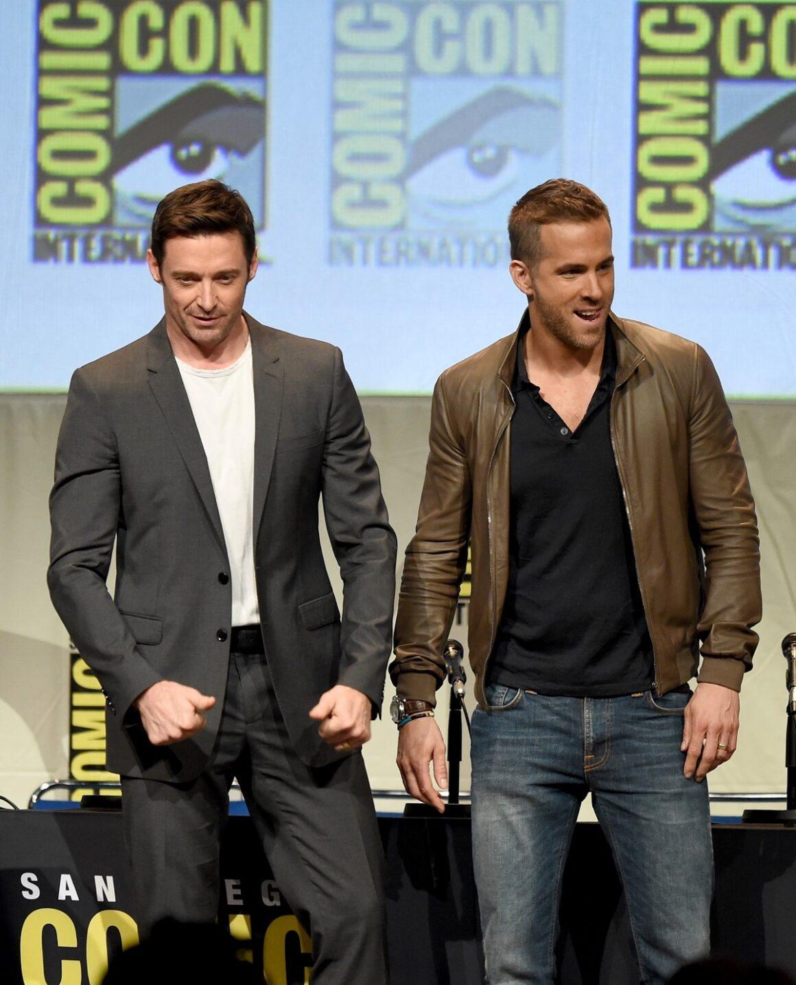 Ryan Reynolds and Hugh Jackman Comic-Con International 2015 - 20th Century FOX Panel