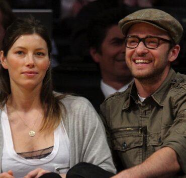 Justin Timberlake Jessica Biel Celebrities At The Lakers Game