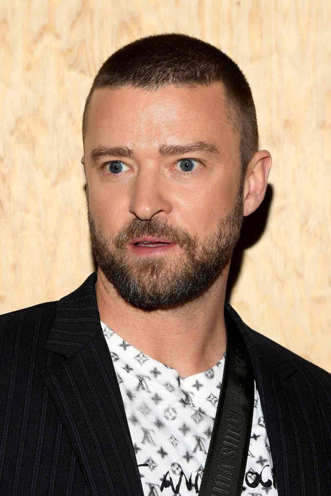 Justin Timberlake Louis Vuitton : Front Row - Paris Fashion Week - Womenswear Spring Summer 2020