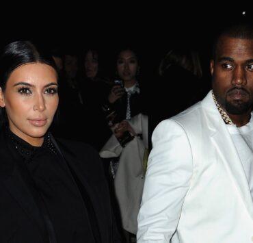 Kim Kardashian and Kanye West Givenchy - Arrivals - PFW F/W 2013