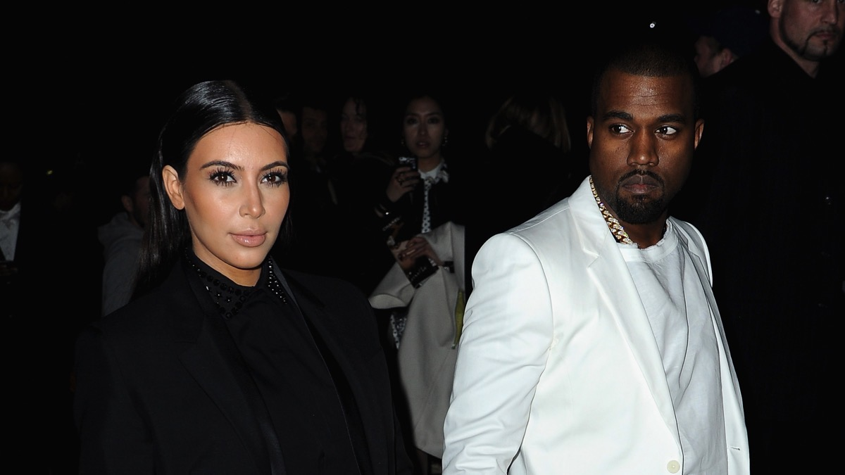 Kim Kardashian and Kanye West Givenchy - Arrivals - PFW F/W 2013