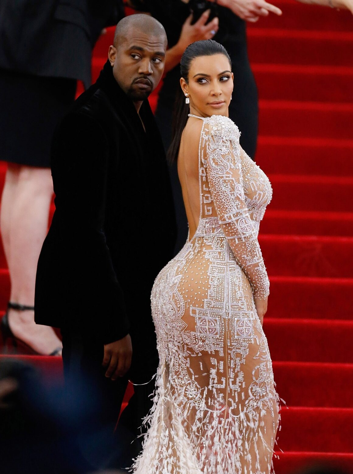"""Kim Kardashian and Kayne West """"China: Through The Looking Glass"""" Costume Institute Benefit Gala - Outside Arrivals"""