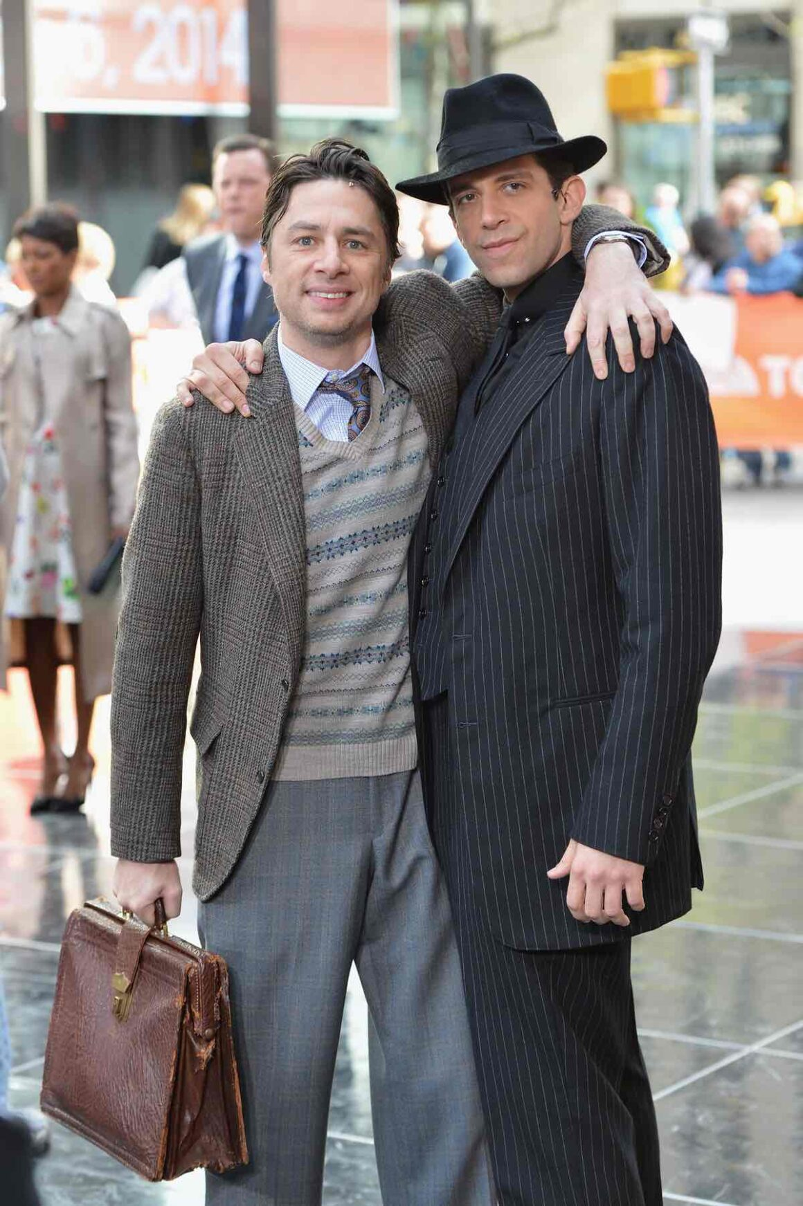 """Zach Braff and Nick Cordero The Cast Of """"Bullets Over Broadway"""" Performs Live On NBC's """"Today"""""""