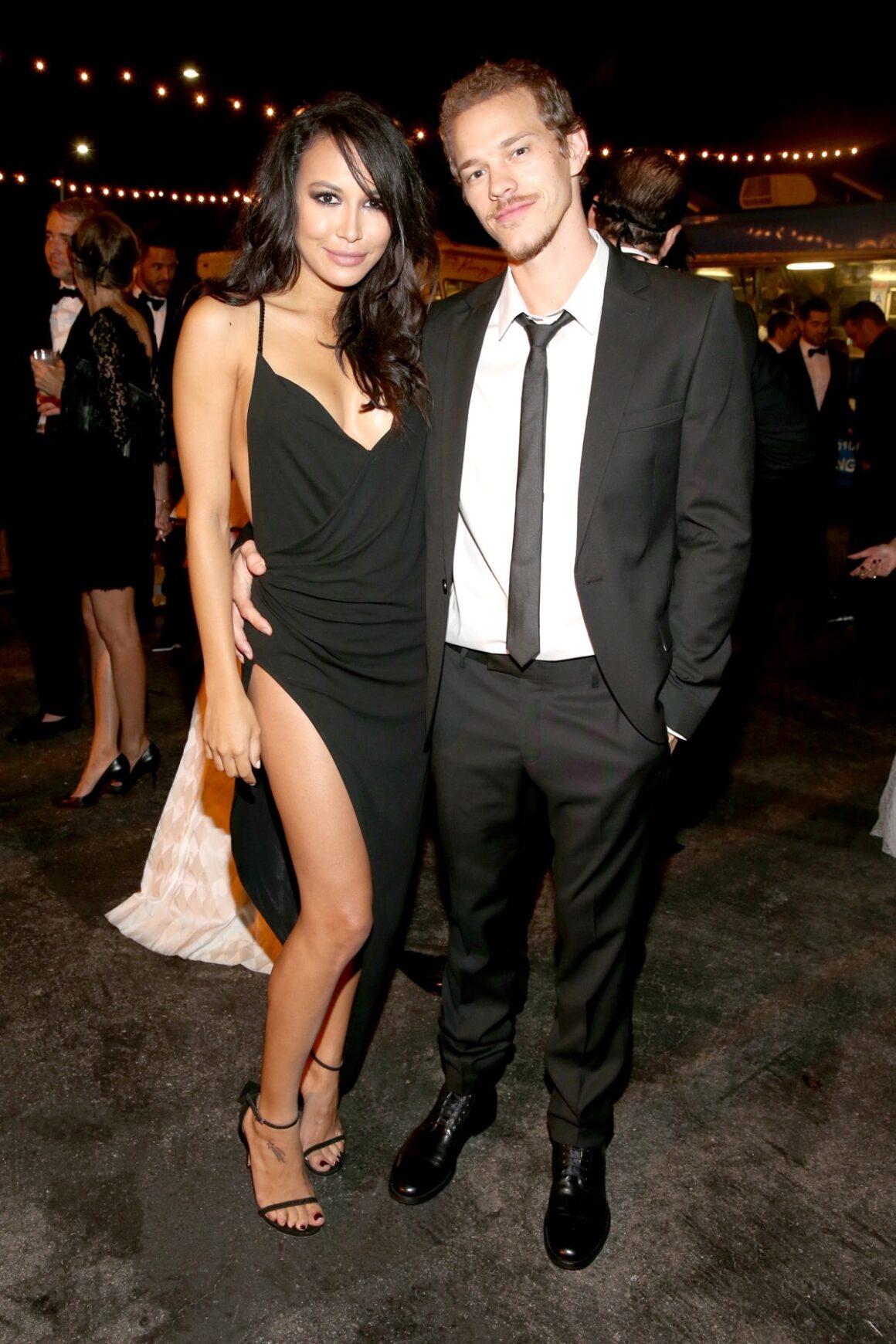 Naya Rivera and Ryan Dorsey The UNICEF Dia de los Muertos Black & White Masquerade Ball