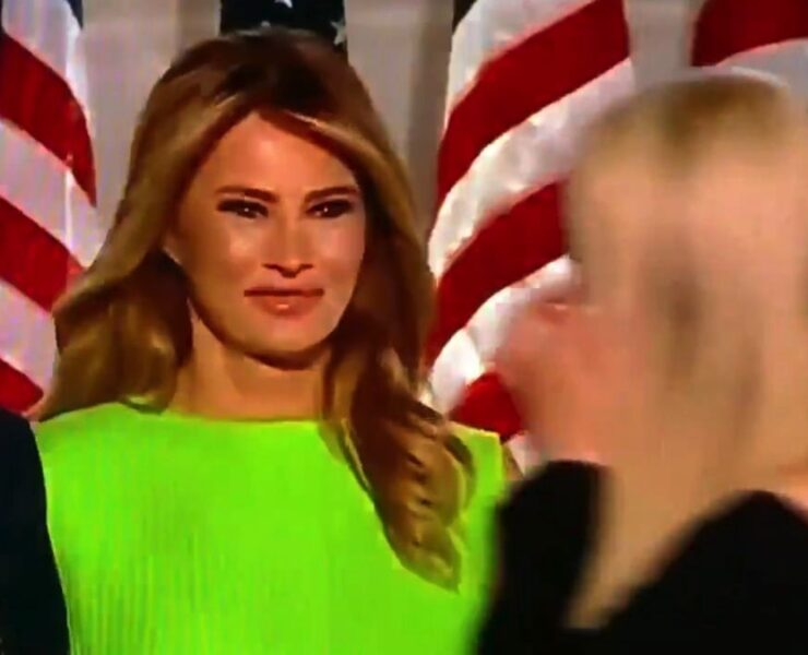 Melania Trump's Expression After Greeting Ivanka Trump Breaks the Internet