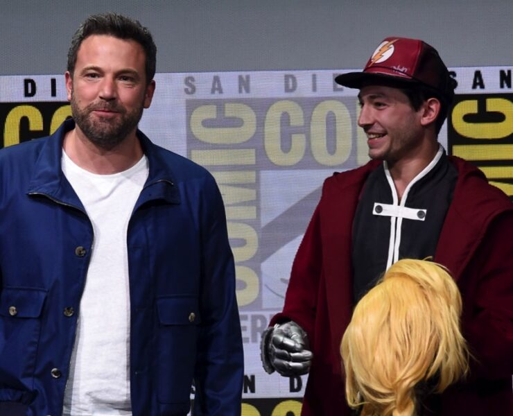 Ben Affleck and Ezra MillerComic-Con International 2017 - Warner Bros. Pictures Presentation