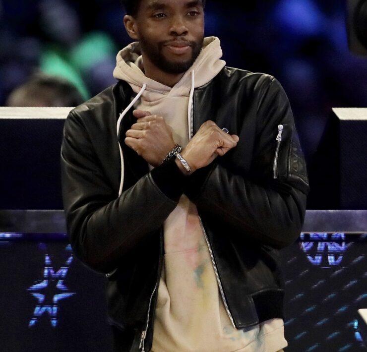 Chadwick Boseman 2020 NBA All-Star - AT&T Slam Dunk