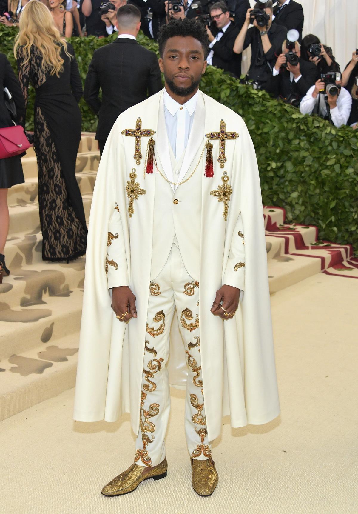 Chadwick Boseman Heavenly Bodies: Fashion & The Catholic Imagination Costume Institute Gala - Arrivals
