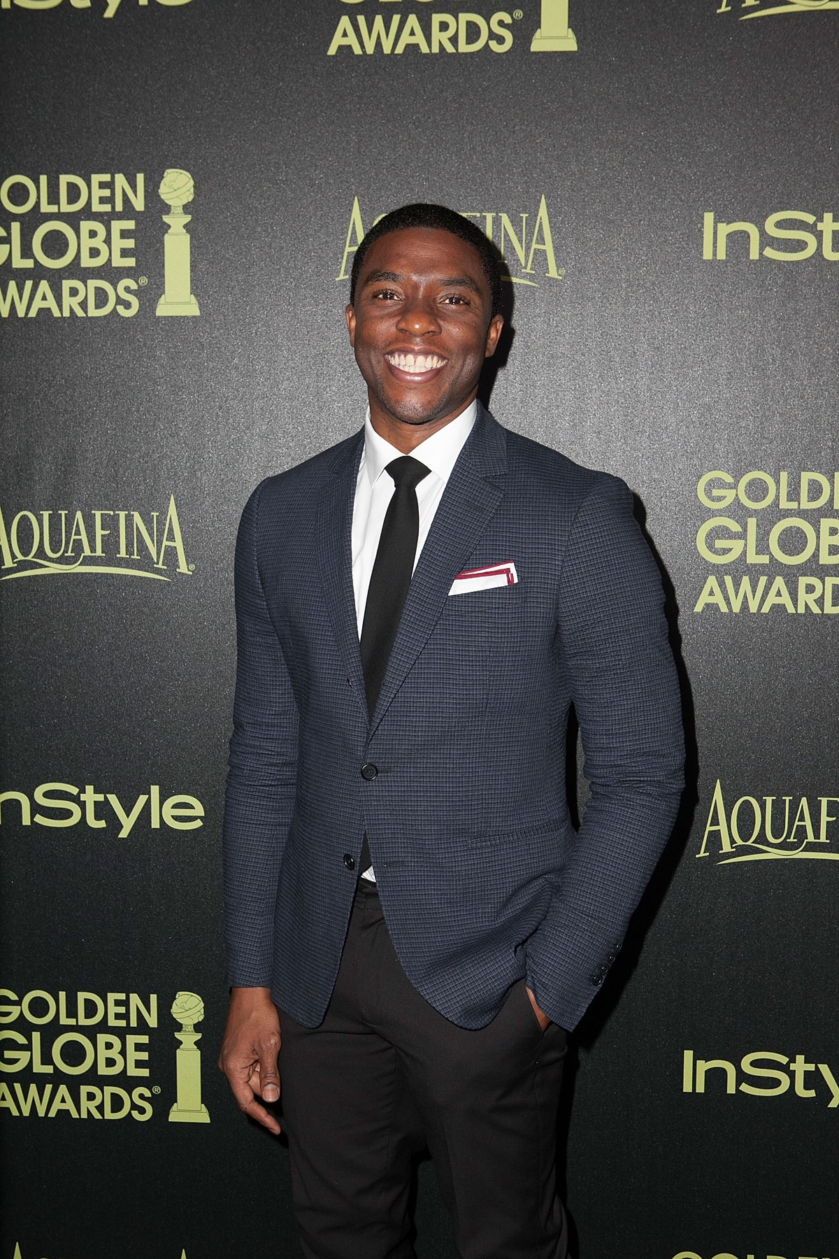 Chadwick Boseman The Hollywood Foreign Press Association (HFPA) And InStyle Celebrate The 2015 Golden Globe Award Season - Arrivals