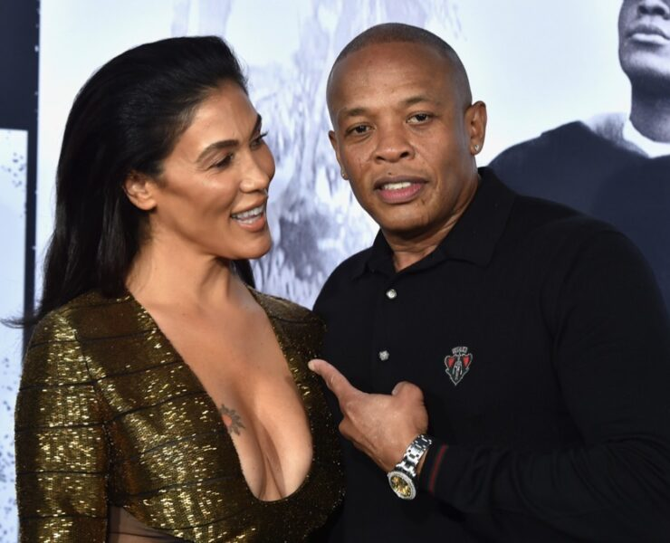 """Dr. Dre's and Nicole Young Universal Pictures And Legendary Pictures' Premiere Of """"Straight Outta Compton"""" - Arrivals"""
