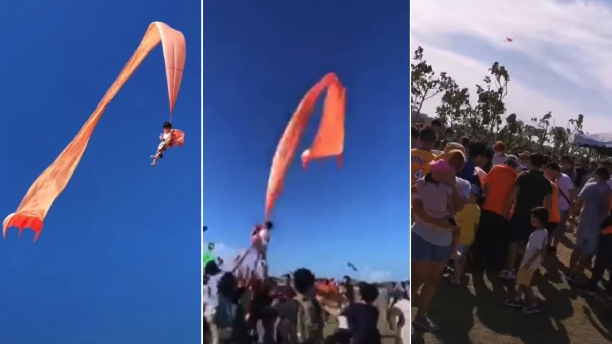 Taiwan Toddler Swept 100ft Into Air By Kite