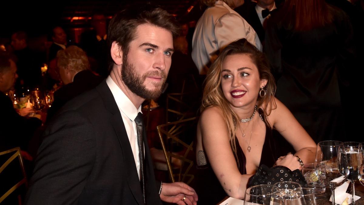 Liam Hemsworth and Miley Cyrus 16th Annual G'Day USA Los Angeles Gala - Inside