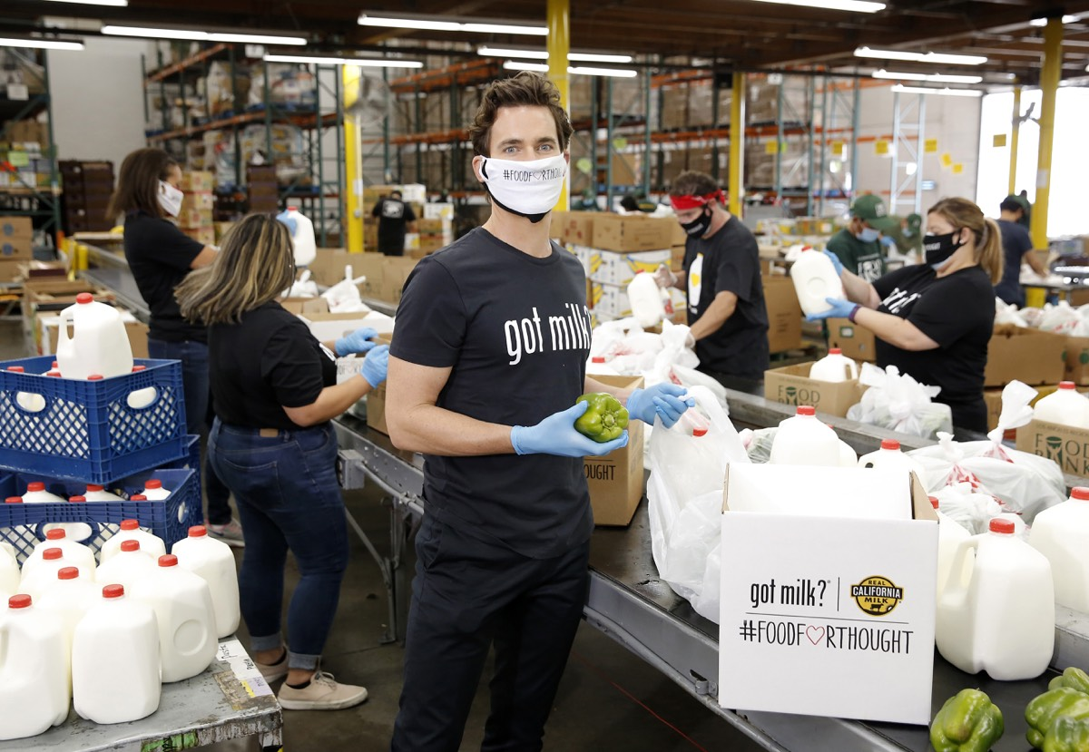 Matt Bomer The Creators of Got Milk? and California Dairy Farmers Partner to Help Provide 1 Million Meals and 1 Million Servings of Milk to Families Facing Hunger through #foodforthought Initiative