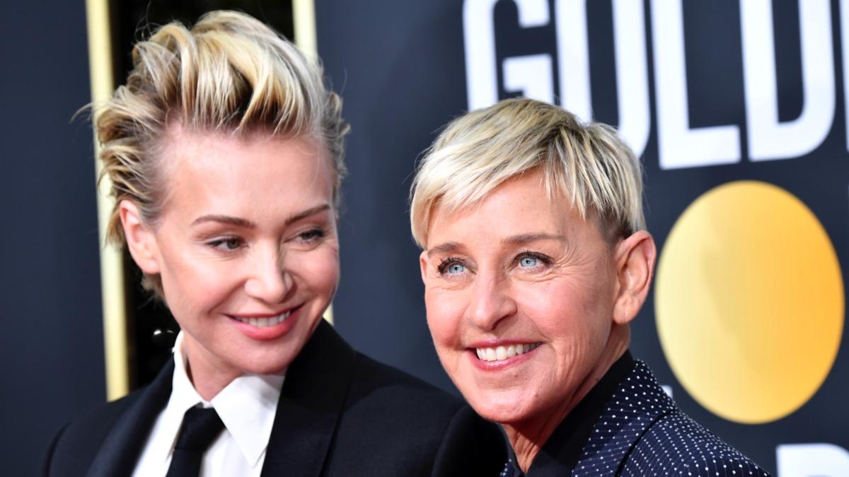 Portia de Rossi and Ellen DeGeneres 77th Annual Golden Globe Awards - Arrivals