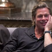 Brad Pitt participates in the roundtable discussion during the Breitling Summit