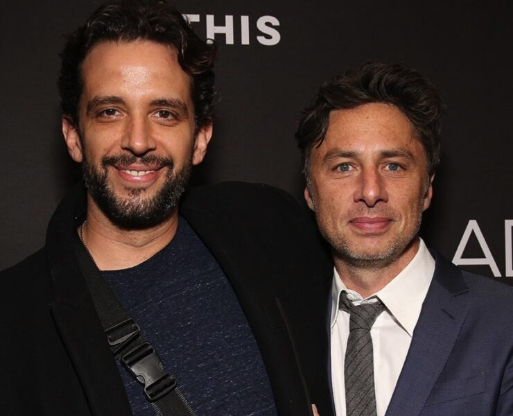 Nick Cordero and Zach Braff