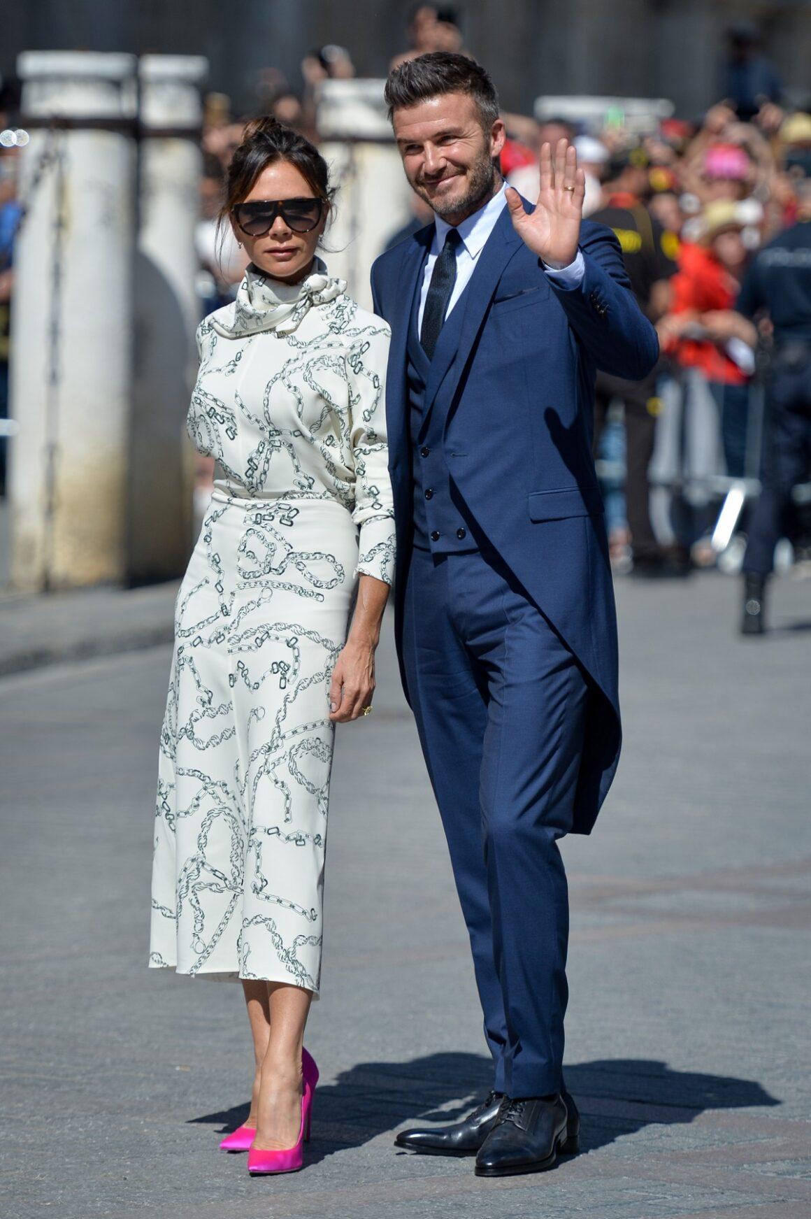 David Beckham and Victoria Beckham Sergio Ramos And Pilar Rubio Wedding In Seville