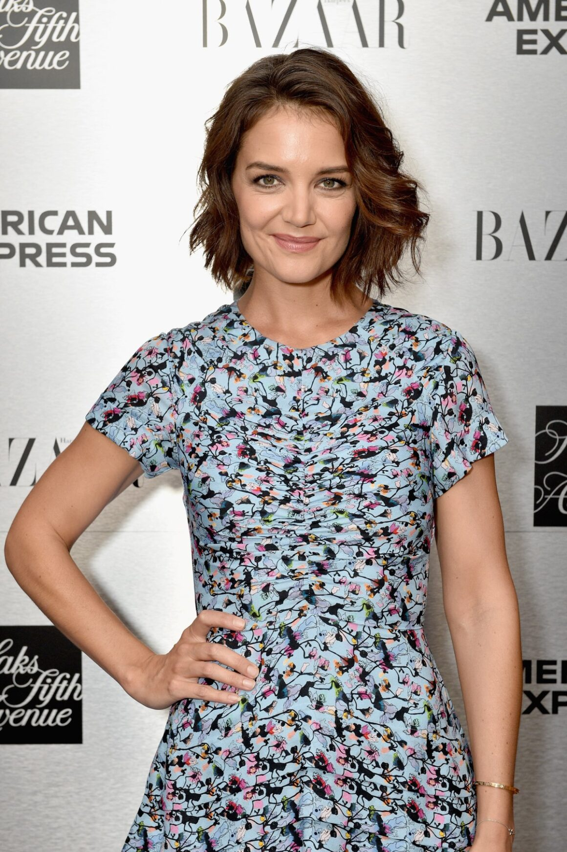 Katie Holmes Glenda Bailey And Katie Holmes Host The Launch Of The Saks IT List Townhouse In Partnership With American Express And Harper's BAZAAR