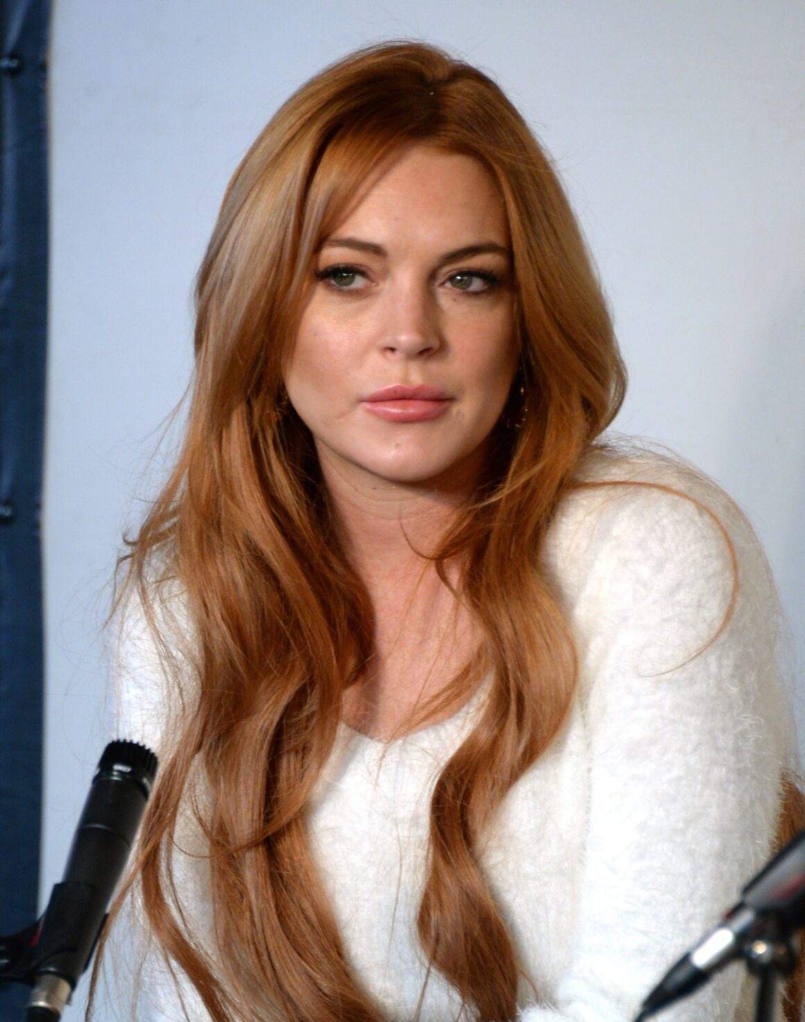 Lindsay Lohan Press Conference At Social Film Loft - 2014 Park City