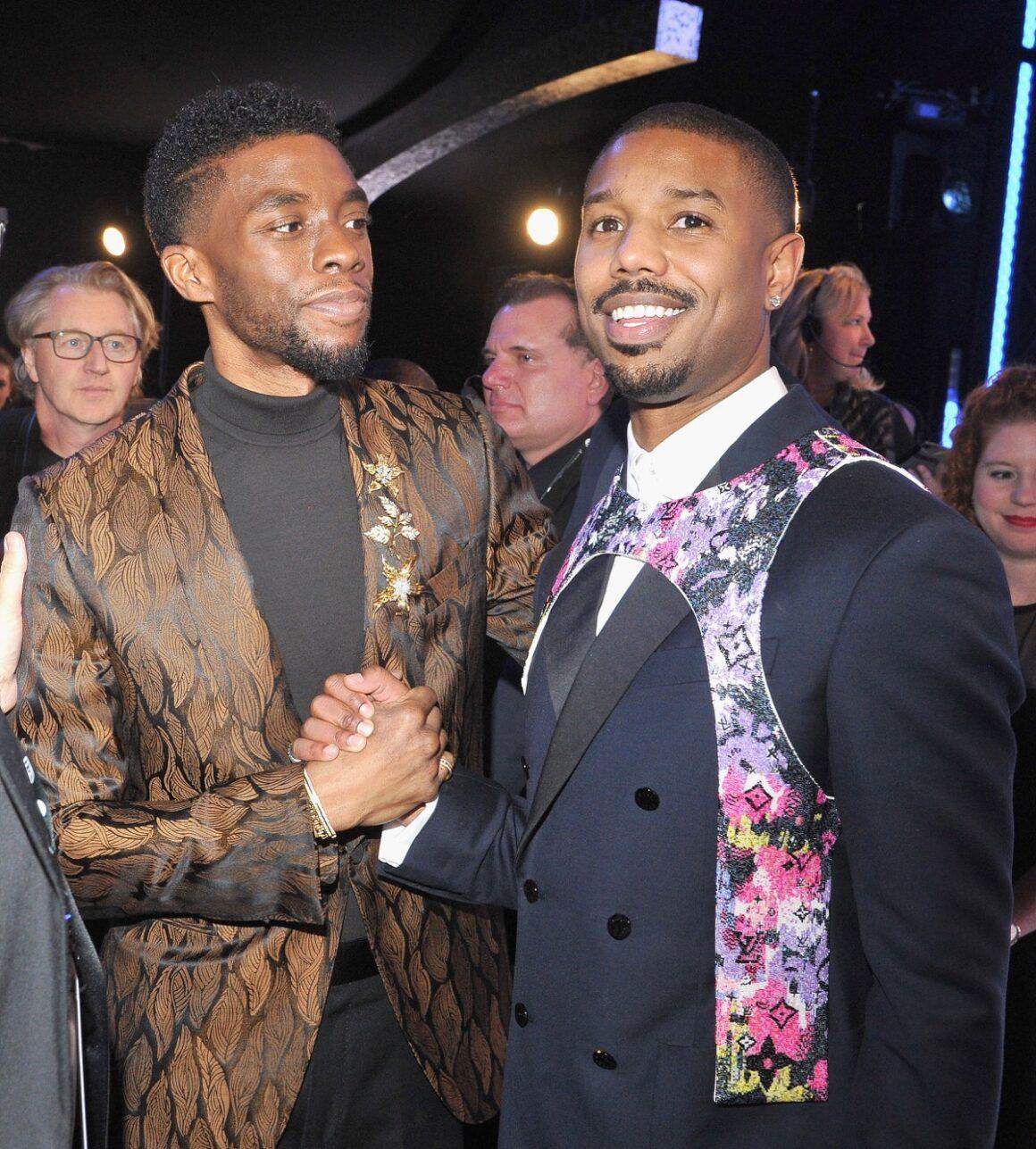 Chadwick Boseman and Michael B. Jordan 25th Annual Screen ActorsGuild Awards - Cocktails
