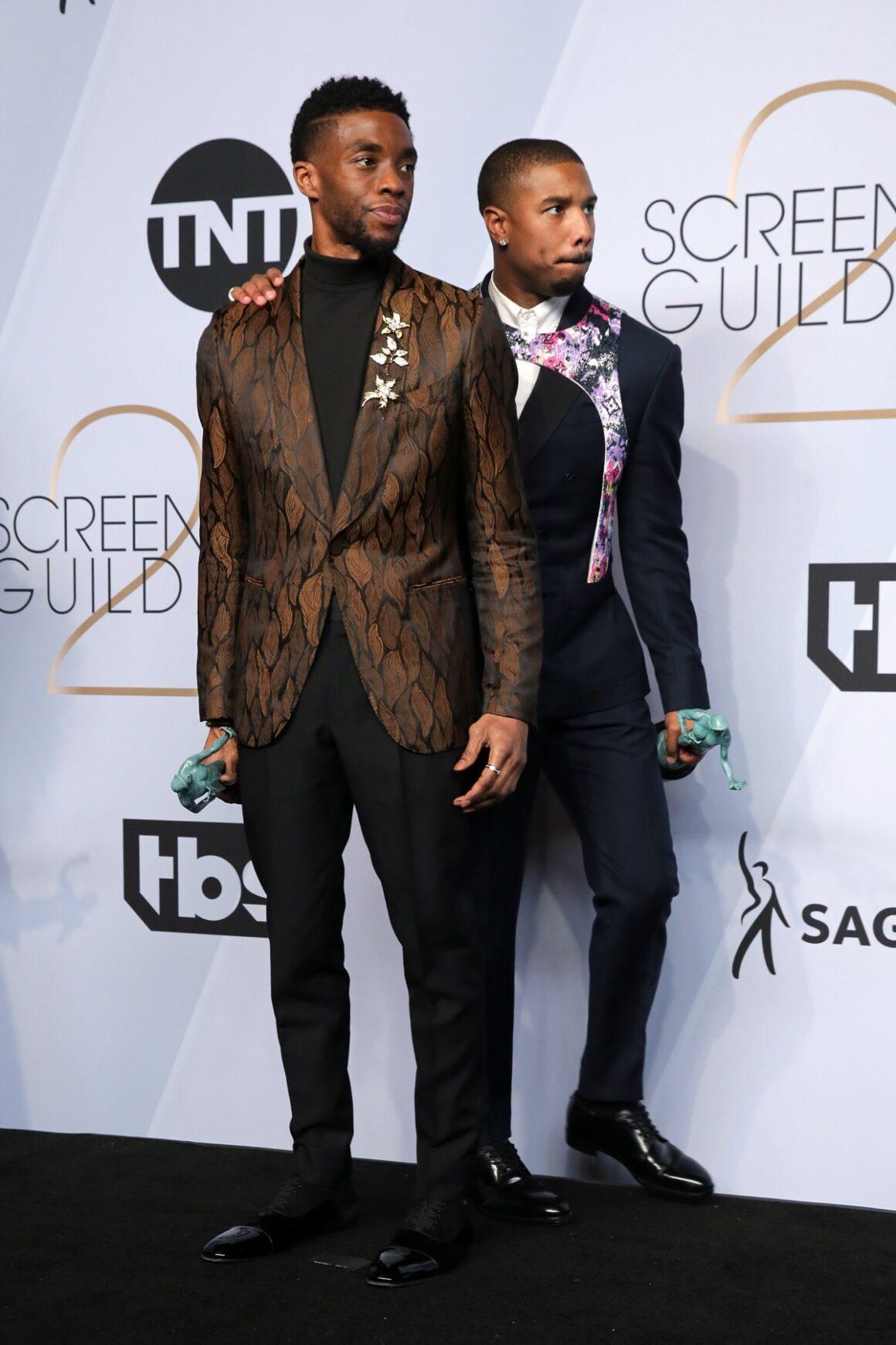 Chadwick Boseman and Michael B. Jordan 25th Annual Screen ActorsGuild Awards - Press Room
