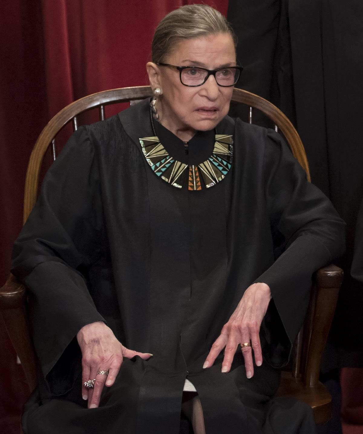 US Supreme Court Justice Ruth Bader Ginsburg