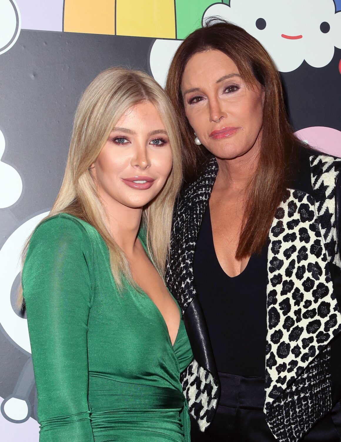 Sophia Hutchins and Caitlyn Jenner alice + olivia by Stacey Bendet x FriendsWithYou Collection LA Launch Party
