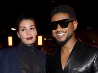 Jenn Goicoechea and Usher Balmain : Front Row - Paris Fashion Week Womenswear Fall/Winter 2020/2021