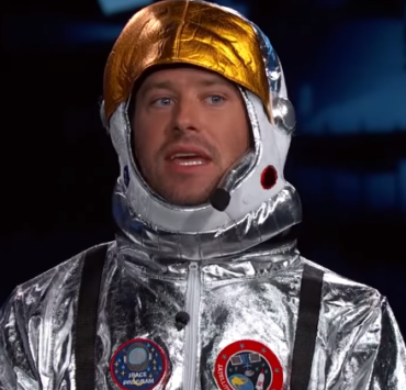 Armie Hammer Dons Space Suit for Jimmy Kimmel Live