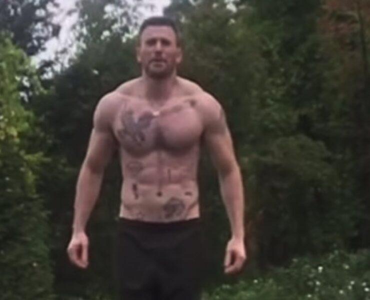 Chris Evans' Shirtless Video Reveals an Abundance of Tattoos