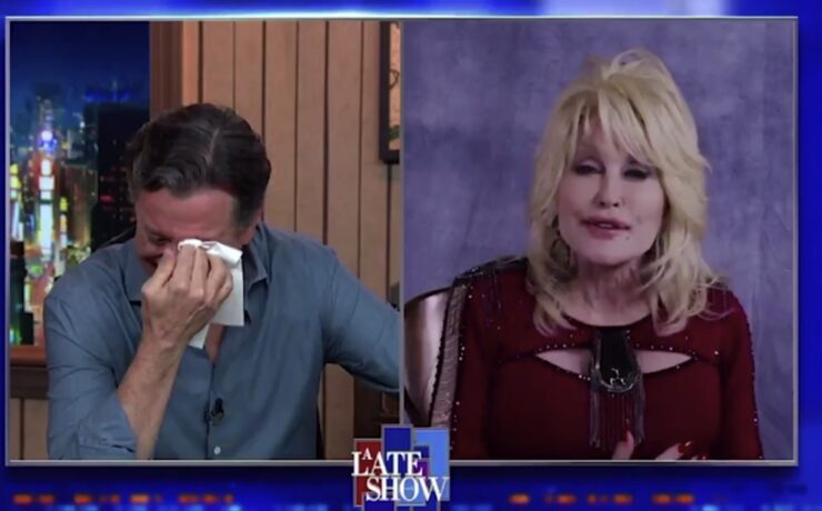 Stephen Colbert Reduced to Tears During Dolly Parton A Cappella Performance