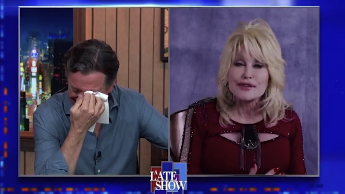 Dolly Parton Moved Stephen Colbert To Tears During Impromptu Performance