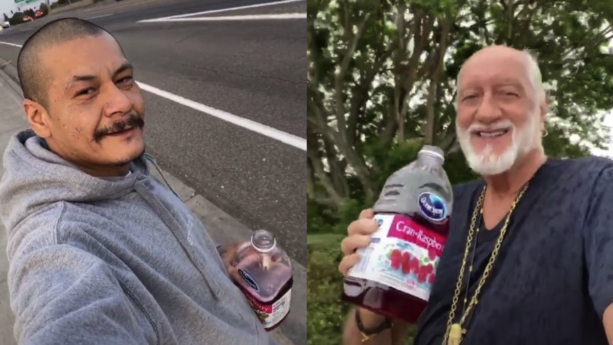 Mick Fleetwood Recreates Viral TikTok 'Dreams' Skateboarding Video