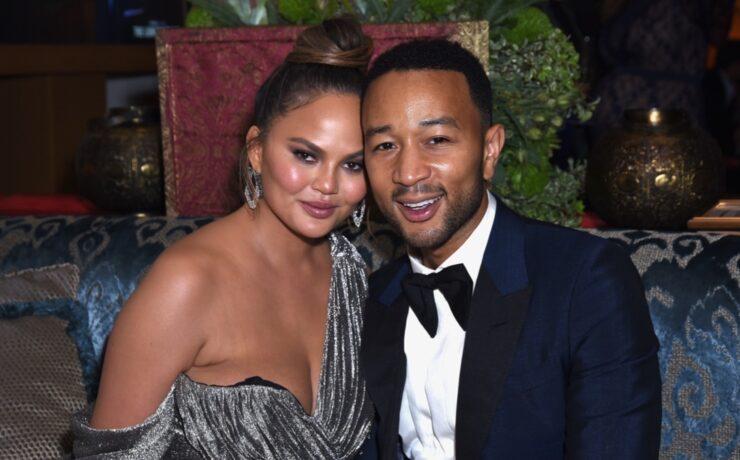 Chrissy Teigen and John Legend Hulu's 2018 Emmy Party